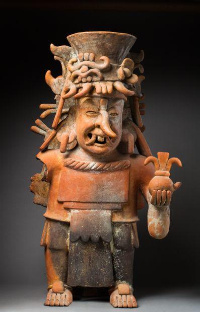Encensoir à l'effigie du dieu Chaac  présenté...