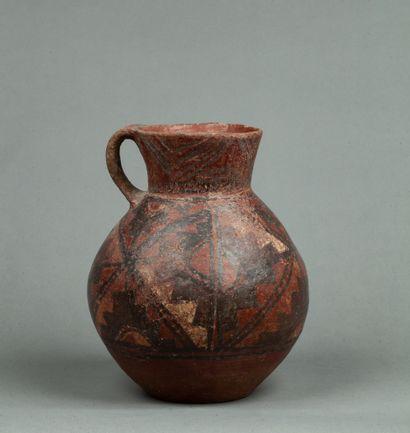Vase  à une anse  Terre cuite rouge café...
