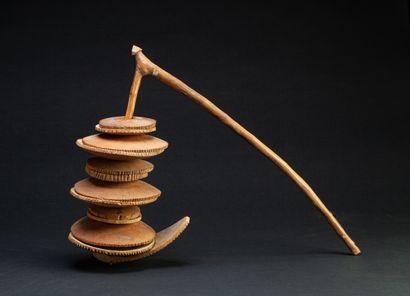 Instrument cérémoniel  Bois, cucurbitacée...