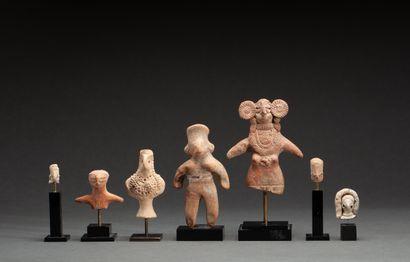 Ensemble :  Trois bustes, une statuette et...