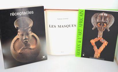 3 ouvrages:  RECEPTACLES  LES MASQUES  ARMAN...