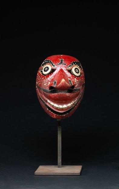 Masque de danse  Bois polychrome, anciennes...
