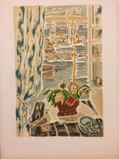 Jules CAVAILLES (1901 - 1977)  Le port de...