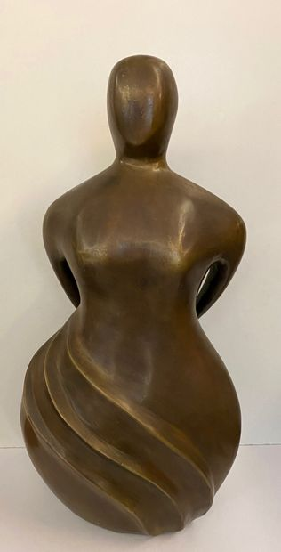 I. ROBERTI (Actif au Xxe siècle)  Femme au...