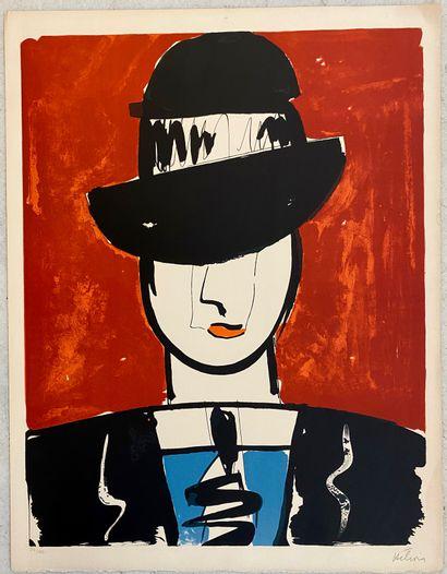 Jean HELION (1904 - 1987)  L'homme au chapeau...