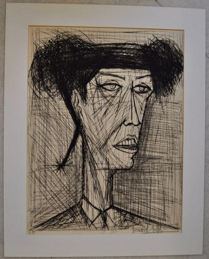 Bernard BUFFET (1928-1999)  Visage de Torero...