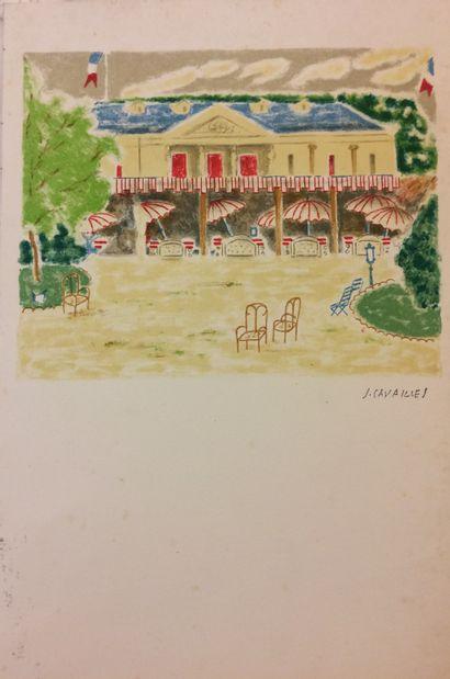 Jules CAVAILLES (1907-1977), d'après  Jardin...