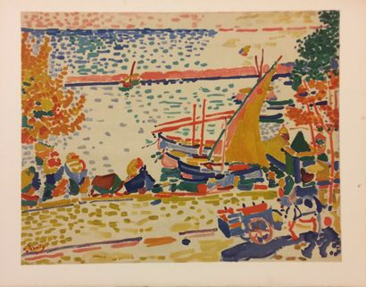 André DERAIN (1880 - 1954)  Port de Collioure...