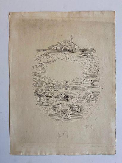 Raoul DUFY (1877-1953)  Personnages en bord...