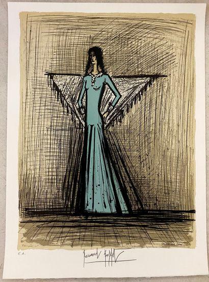 Bernard BUFFET (1928 - 1999)  Carmen  Lithographie...