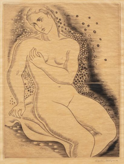 Kioyshi HASEGAWA (1891 - 1980)  Baigneuse...