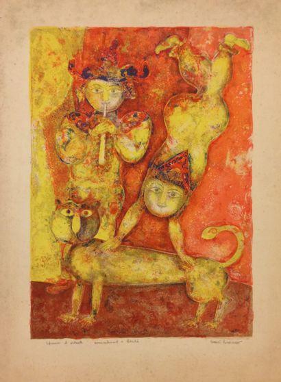 Sakti BURMAN (Calcutta 1935)  Joueur de de...