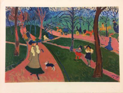 André DERAIN (1880 - 1954)  Hyde Park  Lithographie...