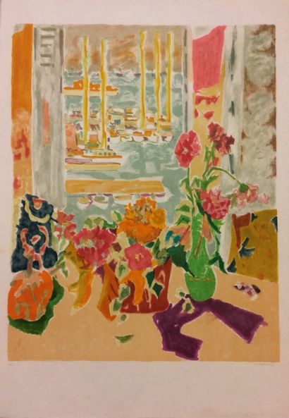Jules CAVAILLES (1901 - 1977)  Fenêtre ouverte...