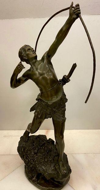 Emile GREGOIRE (1871 - 1948)  L'archer  Sculpture...