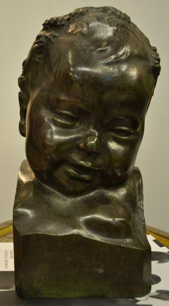 Carl Albert ANGST (1875-1965)  Portrait d'enfant...