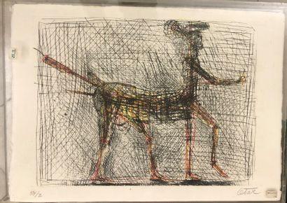 CÉSAR (1921-1998)  Hommage à Picasso  Lithographies...