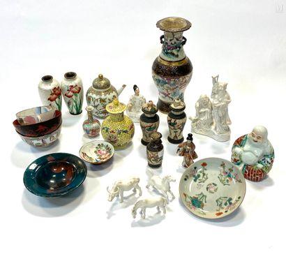 CHINE XX ème  Important lot de porcelaines...