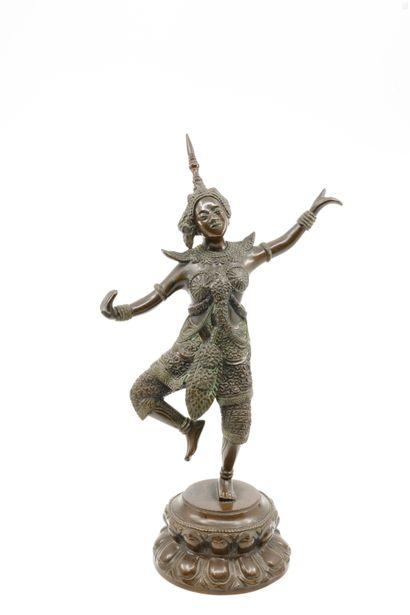 Ecole indochinoise, XX ème  Danseuse  Bronze...