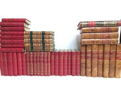 Lot de livres comprenant :  -A.DAUDET, œuvre complète, Tomes 1-4  -DUMAS, Théatre,...