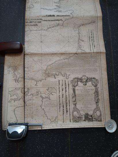 Nouvelle carte réduite de la Manche de Bretagne...