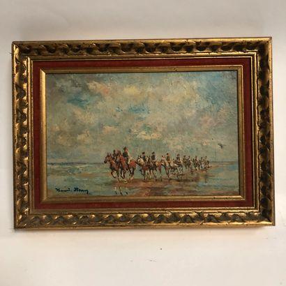 Ecole du XIXème siècle  Cavalerie  Huile...