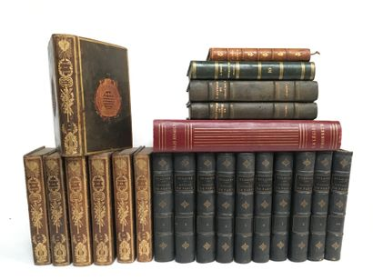 Lot de livres comprenant :  -RACINE, œuvre,...