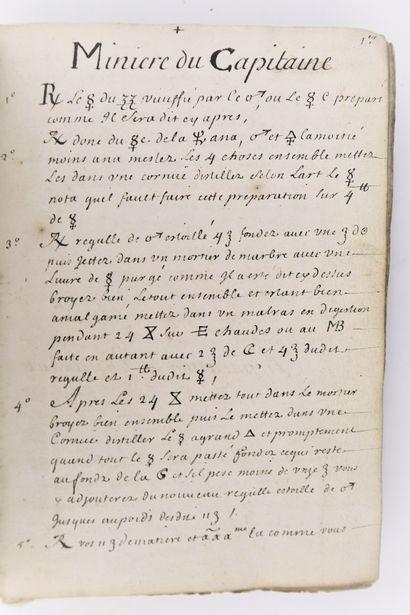 Alchimie - Manuscrit XVIIe siècle. Recueil...
