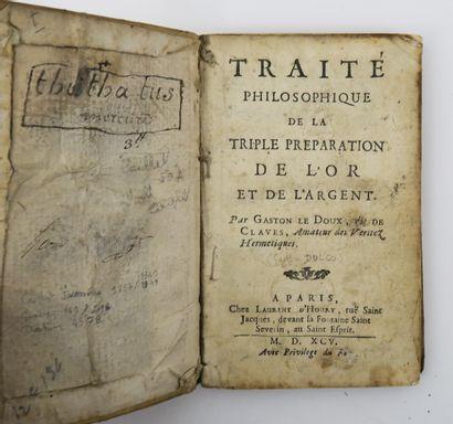 Alchimie - DULCO (Gaston). Traité philosophique...