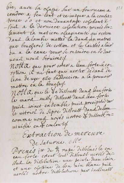Alchimie - Manuscrit XVIIe s. Espitre par...