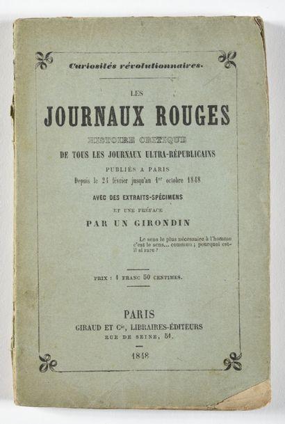 LES JOURNAUX ROUGES. 1848.