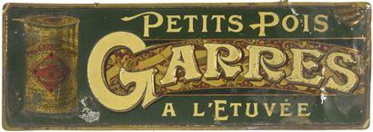 GARRES. PETITS POIS A L'ETUVEE.