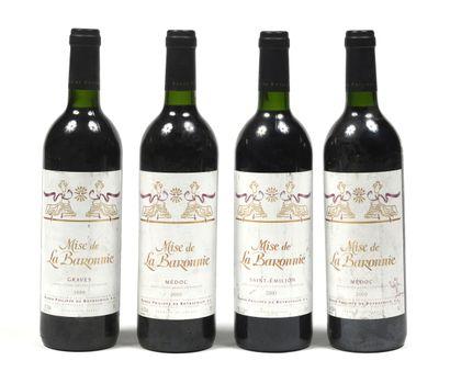 4 bouteilles BORDEAUX