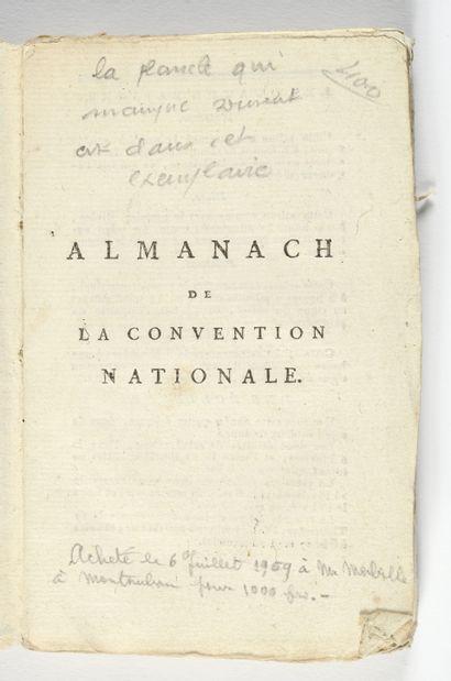 1794. ALMANACH de la Convention Nationale pour l'an III de l'ère républicaine.