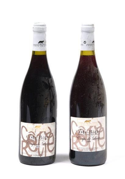 2 bouteilles RHONE Côte-Rôtie