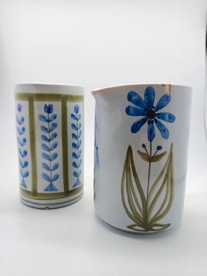 Roger Capron (1922 - 2006)  Deux pots en...