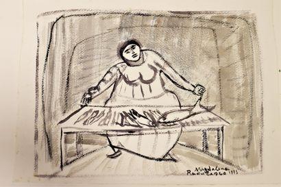 Magdalena RADULESCU (1902-1983)  Poissonnière...