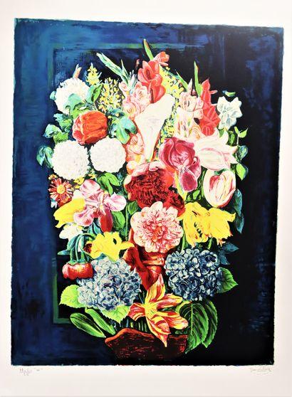 D'après Moïse KISLING (1891-1953)  Bouquet...