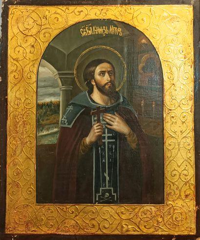 Icône du Saint Grand Prince Igor Tempera...