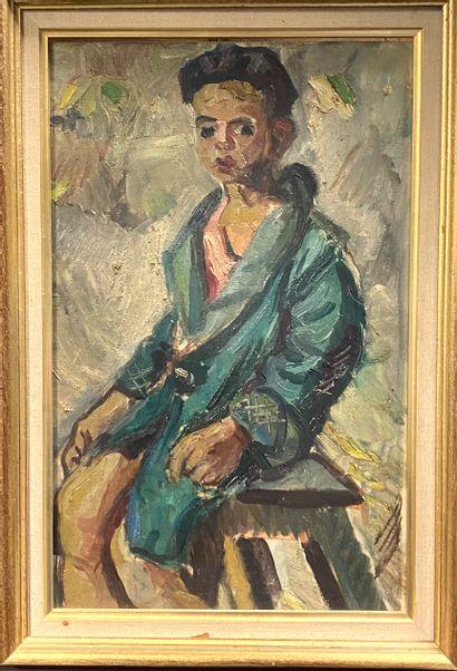 Ecole du XXème  Garçon à la veste, 1931  Huile...
