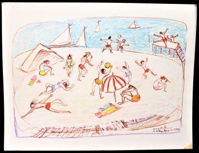 Magdalena RADULESCU (1902-1983)  Jeux d'été...