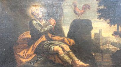 Ecole italienne du XVIII ème  Le repentir...