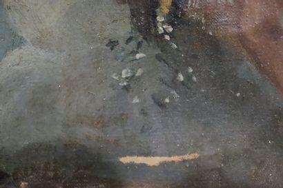 Ecole ITALIENNE fin XVIII ème  Putti en vol, esquisse  Huile sur toile  28 x 22...