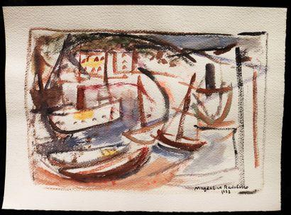 Magdalena RADULESCU (1902-1983)  Voiliers...