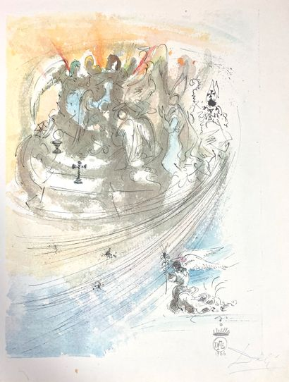 Salvador DALI (1904-1989), Pater Noster, 1966  Ouvrage comportant neuf illustrations...