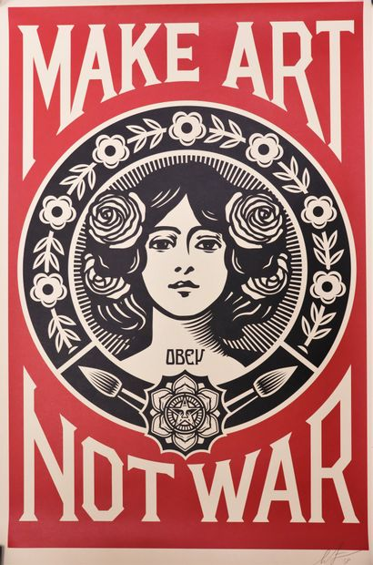 Shepard FAIREY, OBEY (1970-)  Make Art Not...