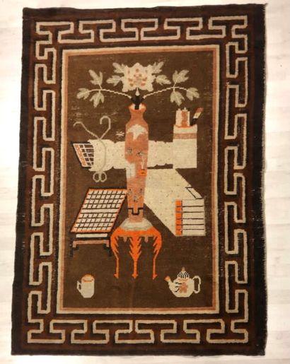 Chine Bao Tao, tapis original  Velours en...