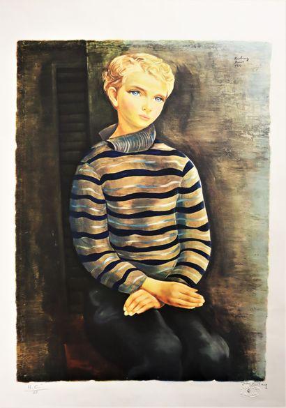 D'après Moïse KISLING (1891-1953)  Portrait...