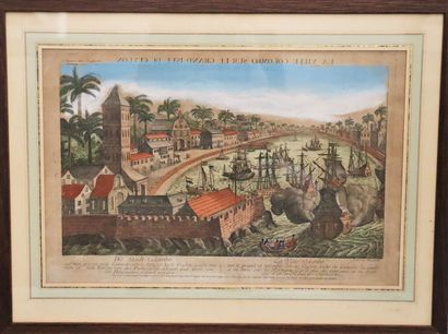 """Panoramic view of Colombo harbour  """"Colombo City on the great island of Ceylon  Colour..."""