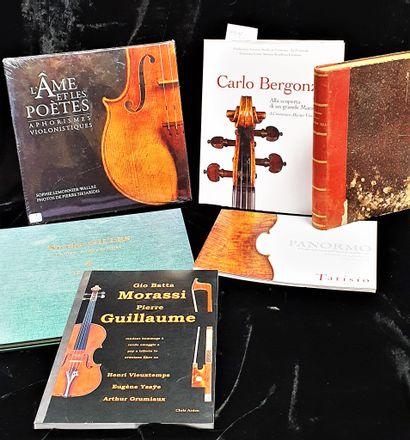 Ensemble de livres de lutherie comprenant...